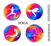 logo for yoga studio or... | Shutterstock .eps vector #431650423