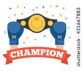 boxing holding championship... | Shutterstock .eps vector #431667883