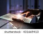 using modern technologies | Shutterstock . vector #431669413