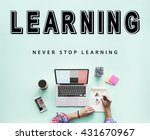 skills practice learning study... | Shutterstock . vector #431670967
