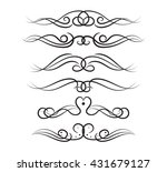 set of page decoration line... | Shutterstock .eps vector #431679127