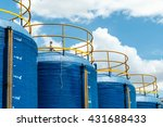 plastic bucket filter large... | Shutterstock . vector #431688433