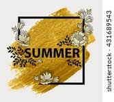 floral summer graphic design.... | Shutterstock .eps vector #431689543