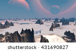 Rocks And Sky. Landscape Of...