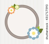 invitation card with abstract... | Shutterstock .eps vector #431717593