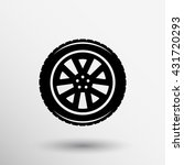 wheel icon isolated symbol tire ... | Shutterstock .eps vector #431720293