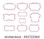 set frames .vintage vector.well ... | Shutterstock .eps vector #431722363