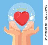 angel heart in hand. heart in...