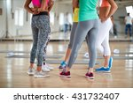 fitness group legs concept | Shutterstock . vector #431732407