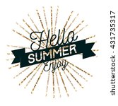 hello summer  typography design | Shutterstock .eps vector #431735317