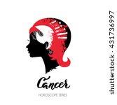 crab zodiac sign. beautiful... | Shutterstock .eps vector #431736997
