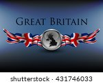 great britain sign with flags... | Shutterstock .eps vector #431746033