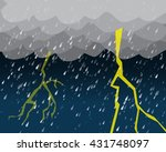 heavy rain and lightening in... | Shutterstock .eps vector #431748097
