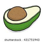 avocado   cartoon vector and... | Shutterstock .eps vector #431751943