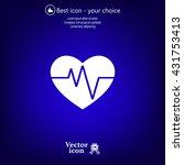 cardiogram icon vector | Shutterstock .eps vector #431753413