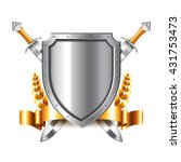 coat of arms with swords... | Shutterstock .eps vector #431753473