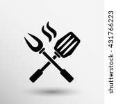 cutters icon isolated  bbq... | Shutterstock .eps vector #431766223