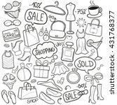 shopping fashion girl day... | Shutterstock .eps vector #431768377
