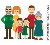 happy family portrait. father... | Shutterstock . vector #431777323