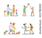 family vacation set. man woman... | Shutterstock .eps vector #431780203