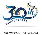 anniversary emblems 30 in... | Shutterstock .eps vector #431786293