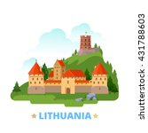 lithuania country magnet design ... | Shutterstock .eps vector #431788603