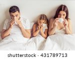 beautiful young parents and... | Shutterstock . vector #431789713