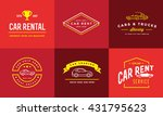 set of vector car rental... | Shutterstock .eps vector #431795623