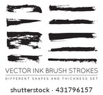 set of vector black pen ink... | Shutterstock .eps vector #431796157
