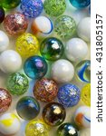 colorful glass marble balls on... | Shutterstock . vector #431805157