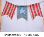 Rustic Patriotic Banner Of...