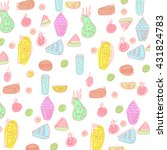 pattern with food and drink. | Shutterstock .eps vector #431824783