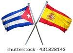 cuba flag with spain flag  3d...   Shutterstock . vector #431828143