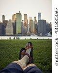 break for feet in sandals on... | Shutterstock . vector #431835067