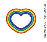rainbow icon heart. flat sign ... | Shutterstock .eps vector #431835463