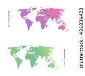 white world map location set