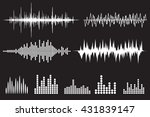 sound wave icon set. equalize... | Shutterstock . vector #431839147