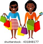 shopping concept with  african... | Shutterstock .eps vector #431848177