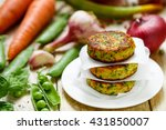 healthy vegetarian patties made ... | Shutterstock . vector #431850007