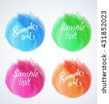 vector elements for headers ... | Shutterstock .eps vector #431852023
