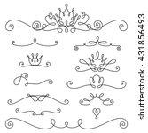 vector linen border elements.... | Shutterstock .eps vector #431856493