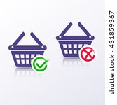 shopping basket icons add or... | Shutterstock .eps vector #431859367