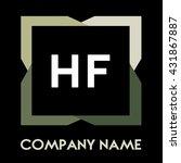 hf letters business logo... | Shutterstock .eps vector #431867887