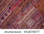 indian patchwork carpet in... | Shutterstock . vector #431870077