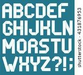 folded paper typeface. | Shutterstock .eps vector #431876953