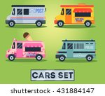 flat cars set  | Shutterstock .eps vector #431884147