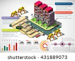 illustration of info graphic... | Shutterstock .eps vector #431889073