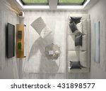 interior of modern design room... | Shutterstock . vector #431898577