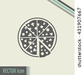 vector illustration of icon for ... | Shutterstock .eps vector #431907667