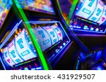 slot machine casino mania.... | Shutterstock . vector #431929507